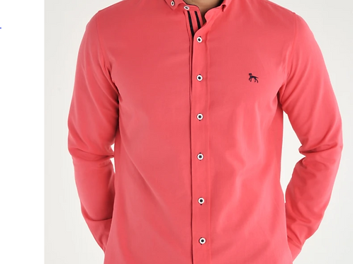 Bewley & Ritch - Oxford Long sleeved shirt - coral