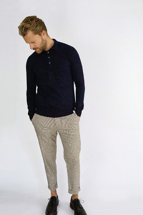 Peregrine Beauford - Polo Neck - Navy - Merino Wool