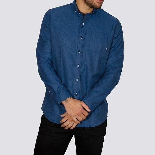 Bewley & Ritch Brushed Flannel Alaska shirt - Blue