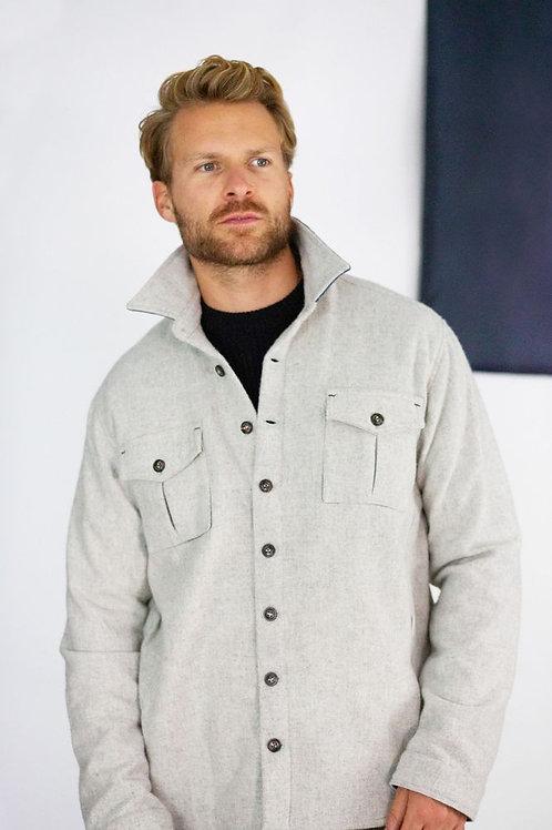 Peregrine 100% wool grey overshirt/jacket