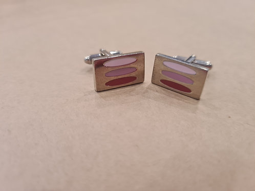 Cufflinks white pink and silver
