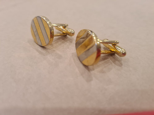 Cufflinks gold and silver look