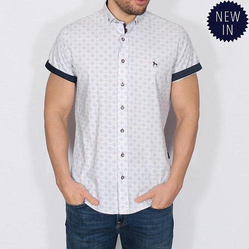 Bewley & Ritch Delah White geometric shirt