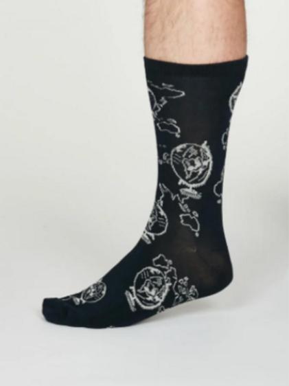 Thought Globe socks -Bamboo - dark navy