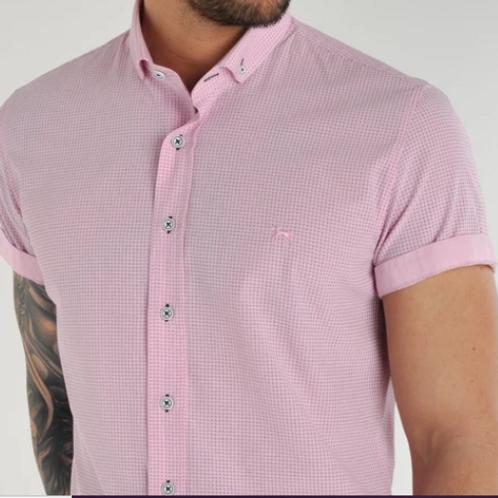 Bewley & Ritch - Dot Short Sleeved Shirt - Pink