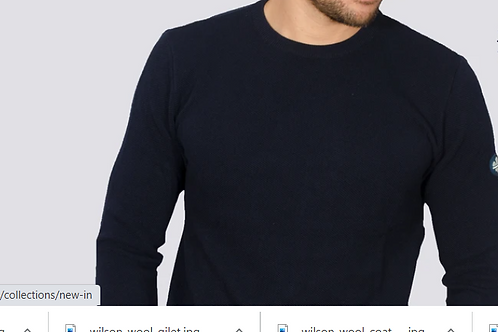 Bewley & Ritch  - montana long sleeved knitted - navy