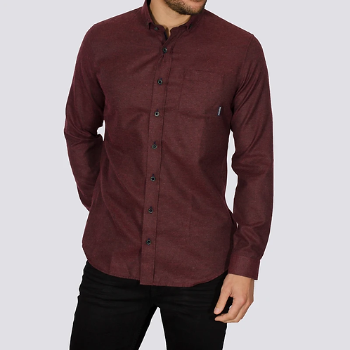 Bewley & Ritch Brushed Flannel Alaska shirt - Burgandy