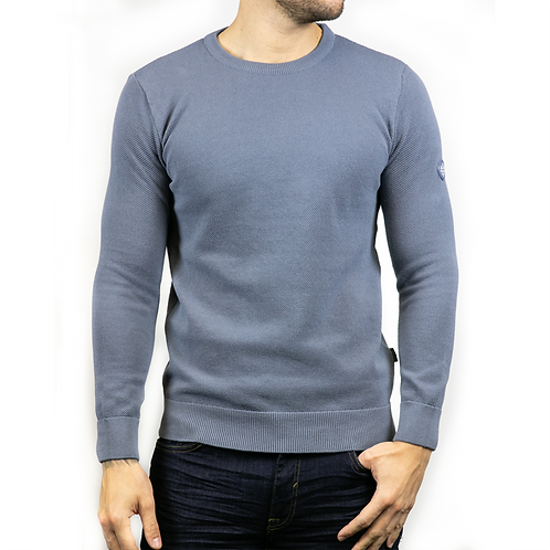 Bewley & Ritch  -Montana Long sleeved knitted - slate blue