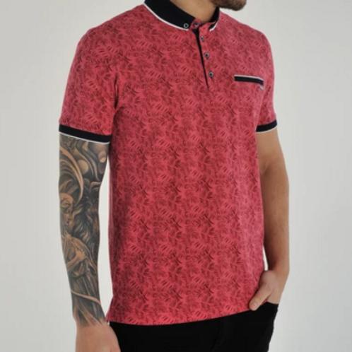 Bewley and Ritch -Leaf Print Polo Shirt