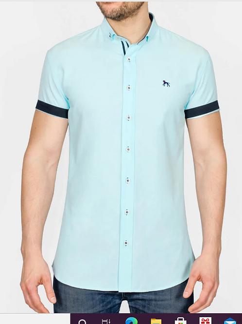 Bewley & Ritch - GalandB  short sleeve shirt - Mint
