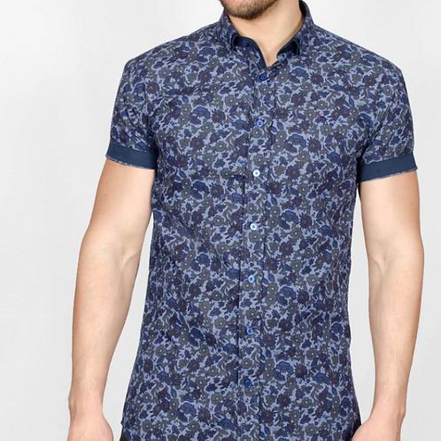 Bewley & Ritch Printed shirt - Sky