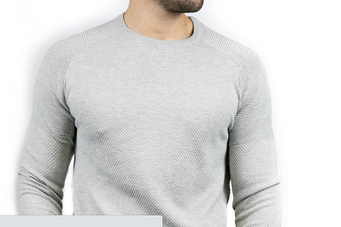 Bewley & Ritch - Peeler long sleeved knitted top - grey