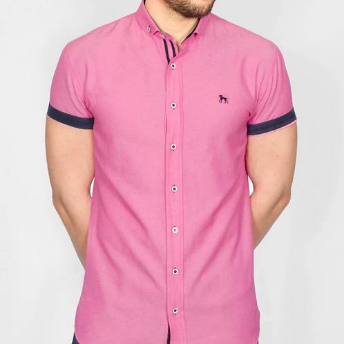 Bewley & Ritch - GalandB  Short Sleeved Shirt - Hot Pink