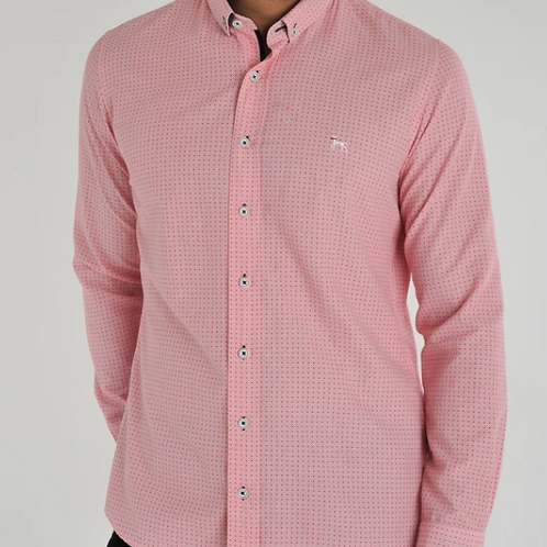 Bewley & Ritch - Patterned Red Shirt