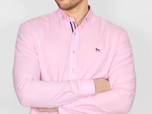 Bewley & Ritch - Oxford Long sleeved shirt - pink