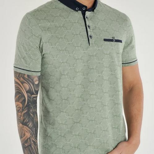 Bewley & Ritch - Patterned Jacquard  Polo Shirt - Green