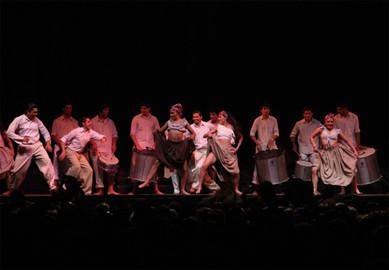 "Scene ""Latidos"", from the play ""Tango de raza""."