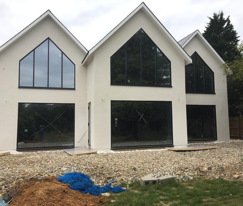 House with external rendering complete