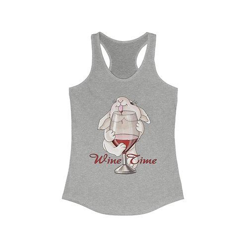 Wine Time Women's Ideal Racerback Tank