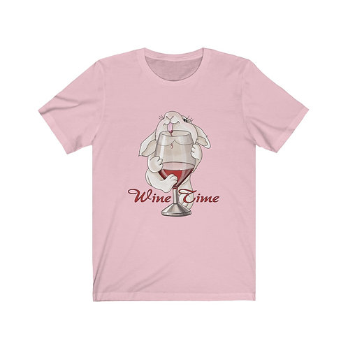 Wine Time Unisex Jersey Short Sleeve Tee