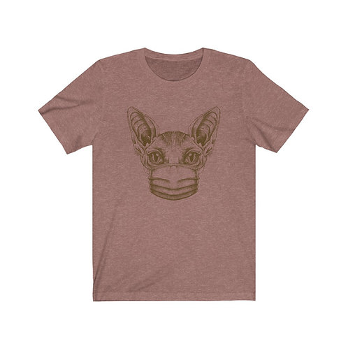 Mask Up Sphynx Cat Unisex Jersey Short Sleeve Tee