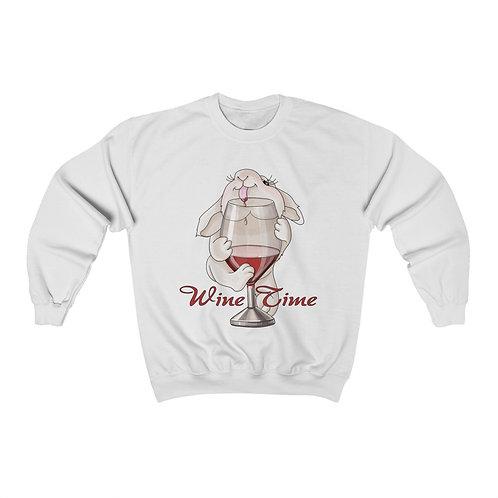 Wine Time Unisex Heavy Blend™ Crewneck Sweatshirt