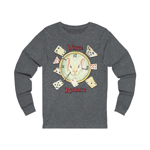 White Rabbit Unisex Jersey Long Sleeve Tee