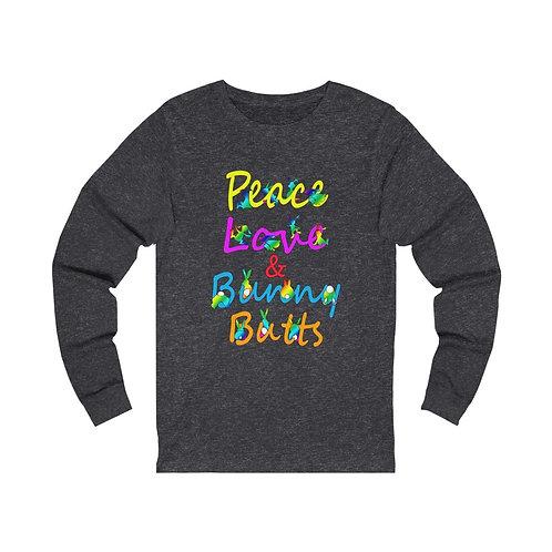 Peace Love & Bunny Butts Unisex Jersey Long Sleeve Tee