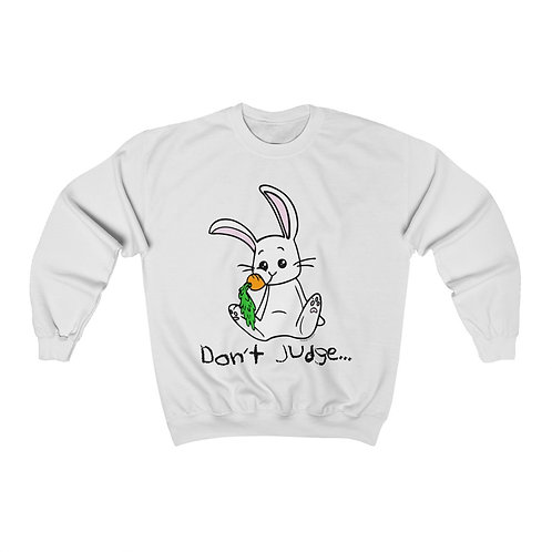 Don't Judge Unisex Heavy Blend™ Crewneck Sweatshirt
