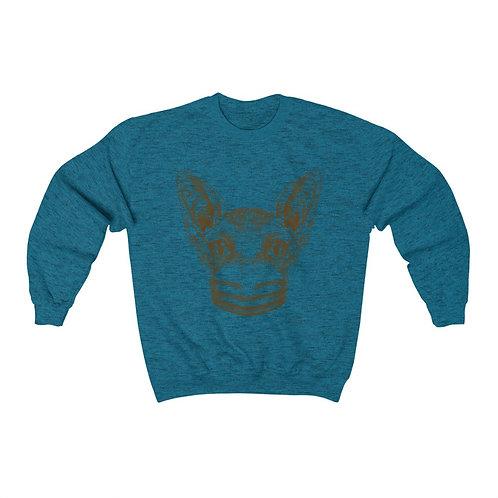 Mask Up Sphynx Cat Unisex Heavy Sweatshirt