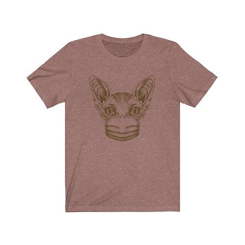 Mask Up Sphynx Cat Unisex Jersey Short Sleeve Tee