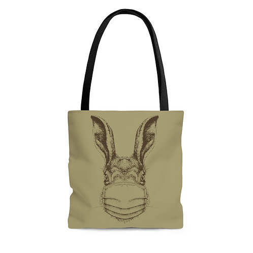 Mask Up Hare Tote Bag