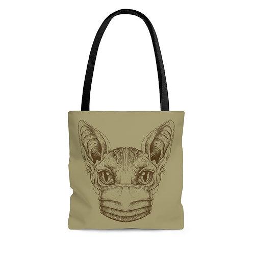Mask Up Sphynx Cat Tote Bag