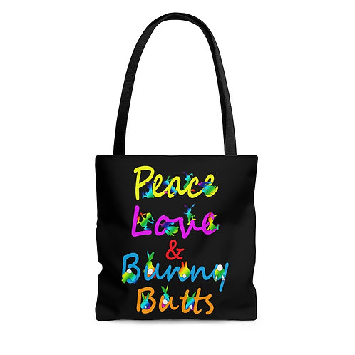 Peace, Love & Bunny Butts Tote Bag