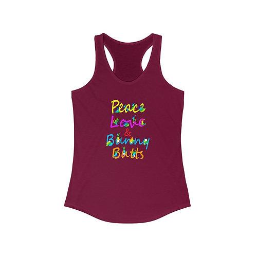 Peace, Love & Bunny Butts Women's Racerback Tank