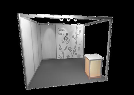 Cube avec plateau en mélaminé blanc