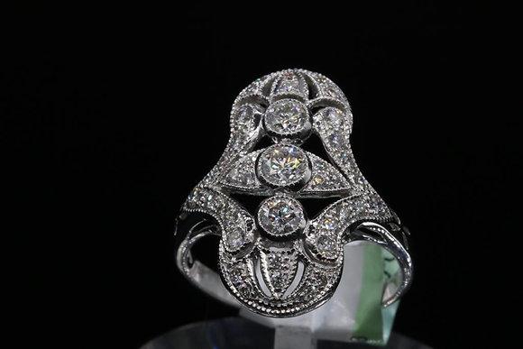 Antique Reproduction 18k Gold Diamond Ring