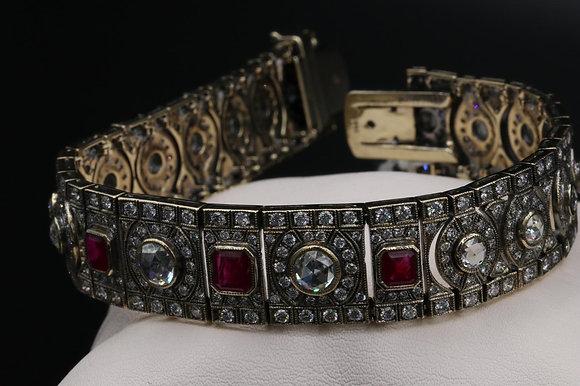 Antique Reproduction 18K Gold Bracelet