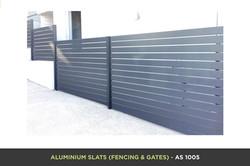 Aluminium Slat Gate - AS 1005