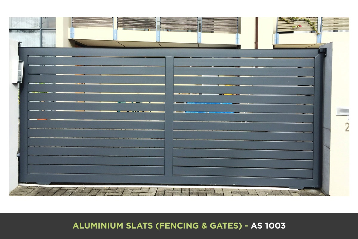 Aluminium Slat Gate - AS 1003