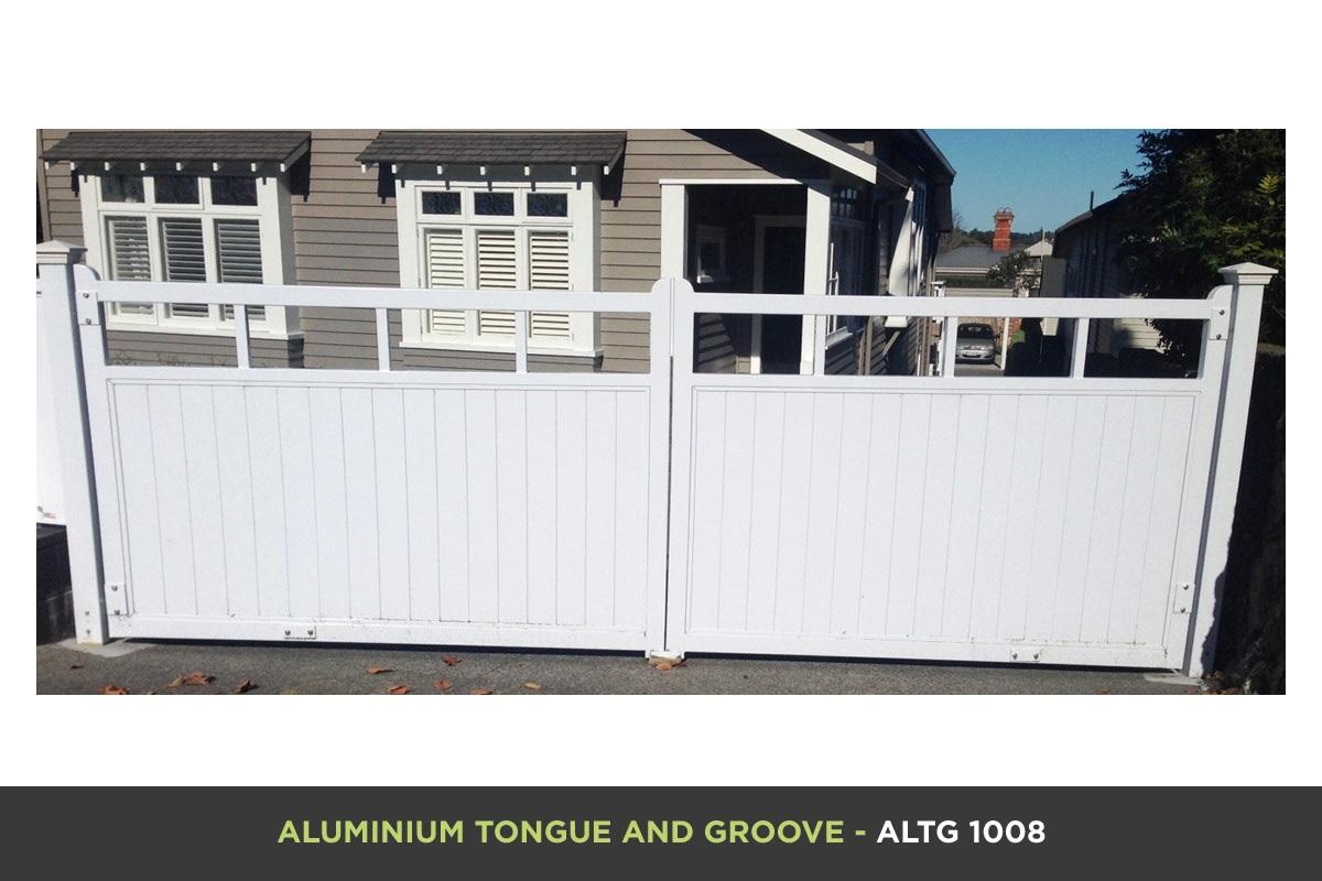 Aluminium Tongue and Groove Gate - ATGV