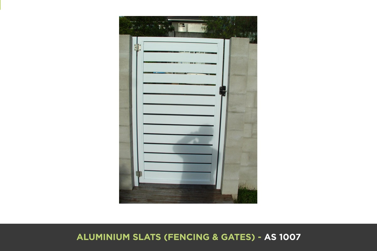 Aluminium Slat Gate - AS 1007