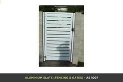 Aluminium Slat Gate - AS 1007
