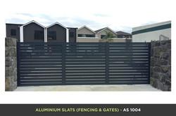 Aluminium Slat Gate - AS 1004