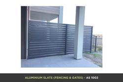 Aluminium Slat Gate - AS 1002