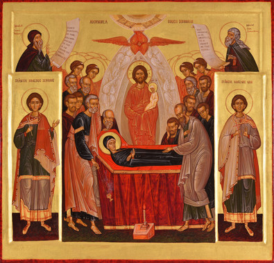 Dormition of the Mother of God and Saints Sergius and Bacchus