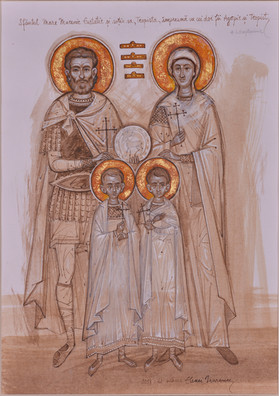 Saint Eustatius and his wife, Theopist, and their sons Agapius and Theopist