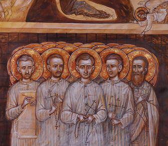 The saints of communist prisons carolling and celebrating the Nativity (detail)