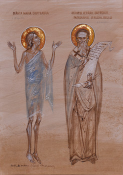 Saint Mary of Egypt and Saint Patriarch Sisoes