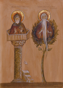 Saints Simeon the Stylite andDavid the Dendrite